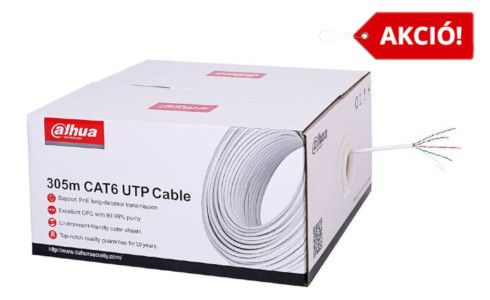 Dahua Cat6 UTP fali kábel fehér